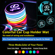 2pcs Colorful LED Coaster Atmosphere Car Parts Light Bulbs For Lexus Neon Lights