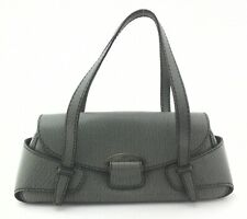 TOD'S Baguette Handbag Jade Green Pebbled Genuine Leather Purse Italy $1795