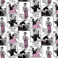 "1 yard Springs Saturday Evening Post ""Fabulous Best Friends""  Fabric"