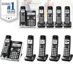 Cordless Phone System 5 Handset Answering Machine Call Block Link2Cell Panasonic