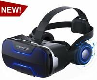 VR Virtual Reality 3D Box Glasses Headset Goggles For iPhone 7 8 Plus X Android