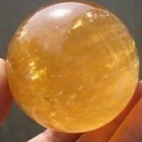 3CM Rare Natural Citrine Quartz Gemstone Sphere Crystal Healing Ball Stone DIY