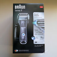 BRAUN Series 7 GREY 7865cc Mens Electric Foil Shaver Wet & Dry,Clean & Charge A