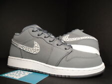 2011 Nike Air Jordan I Retro 1 Phat Low GS COOL GREY CEMENT WHITE 338146-018 6Y