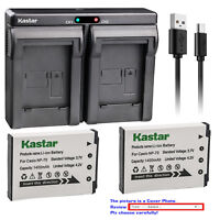 Kastar Battery Dual Charger for Casio NP-70 BC-70L & Casio Exilim Zoom EX-Z250BK