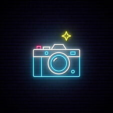 Aoos Custom Retro Camera Dimmable Led Neon Light Signs For Wall Decor