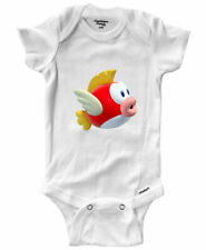 Infant Gerber Onesies Bodysuit Gift Print Cartoon Flying Fish Cheep-Cheep Mario