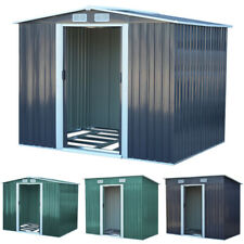 "Metal Garden Shed Outdoor Storage House 4x8 6x8 8x8 8x10"" Tool Sheds with Base"