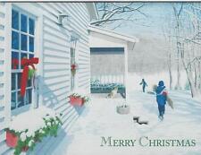 Lang Christmas Cards, Box Of 21, White Christmas by David Ward (106)
