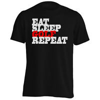 EAT SLEEP GOLF REPEAT Funny Novelty New  Men's T-Shirt/Tank Top f19m
