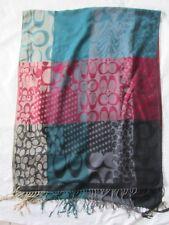 Écharpe en laine mélangée  vintage Scarf  68 x 190 cm