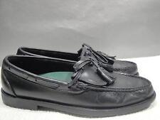 MENS 8.5 D SEBAGO USA BLACK LEATHER DRESS MOC MOCCASIN KILTIE TASSEL LOAFER