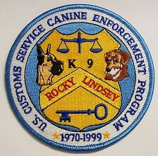 US Customs Service K-9 K9 Canine Enforcement Program Rocky & Lindsey 1970-1999