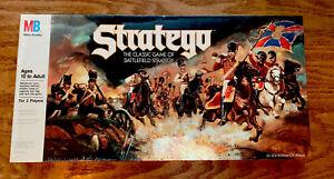 Sealed STRATEGO Vintage Milton Bradley 1986 Board Game MB Battlefield Strategy