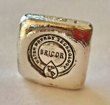 #257 of 500 - 1oz SILVER hand poured bar 999+ Bricor Analytical square bar
