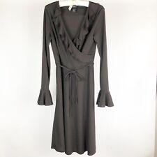 Express Womens Dress Size 5 6 Brown V Neck