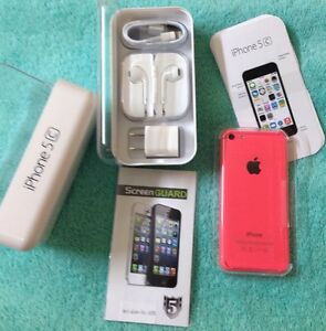 NEW Apple iPhone 5c - 8GB - Pink (Factory Unlocked) Smartphone NIB + FREE GIFT!!