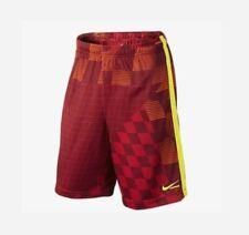 Nike Men's Dri-Fit Lacrosse Shorts Maroon Orange Volt w/Pockets 506654 Xxl