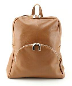 BROWN leather RUCKSACK dark TAN colour leather rucksack BAG adjustable straps