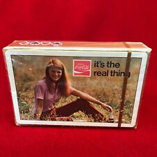 """NOS SEALED Deck 1971 Coca-Cola """"It's the Real Thing"""" Playing Cards SC Tax Stamp"""
