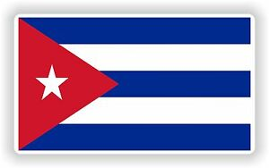 Cuba flag Bandera Sticker Bumper Vinyl Decal bike pegatina car tablet laptop
