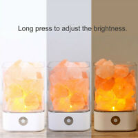 Crystal Light Natural Himalayan Salt Lamp LED Stone Negative Ion Air Purifier