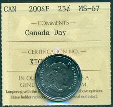 "2004P Canada Day 25 cent ICCS MS 67 ""Bullwinkle"""