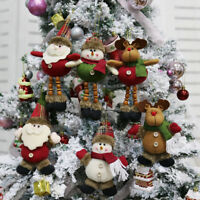 Christmas Gift Santa Claus Snowman Ornament Festival Party Xmas Tree Decor Doll