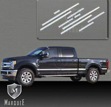 NEW 2017 FORD F250 SUPERDUTY CREW SHORT BED BODY SIDE MOLDING STAINLESS STEL