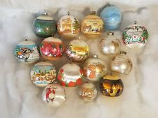 Lot of Vintage Ornaments Norman Rockwell and others! (16)