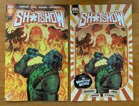 SH*TSHOW #1 Samir Simao Main Cover + Ashcan Variant Scout Comics NM