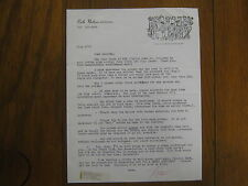 RUTH NATHAN ANDERSON  Signed  8 X 11  Letter  Dated 1973 (VIP MEDICAL GRAPEVINE)