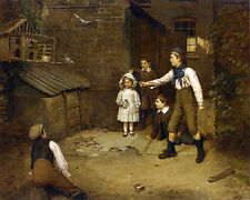 Harry Brooker - 1895  - Training the Pigeons    - 24'  CANVAS