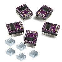 5pcs Stepper Driver DRV8825 and 5pcs heatsink For Prusa Mendel Reprap 3D Printer