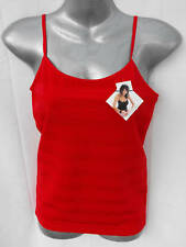 BNWT Womens Sz 14 Bella B Wear Designer Red Stripe Cami