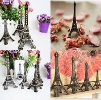 Vintage Bronze Tone Paris Eiffel Tower Vogue Sculpture Model Home Decors 5-48cm