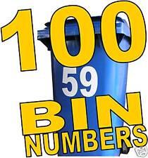 100 WHEELIE BIN NUMBERS earn £ home business in a box
