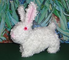 PRINTED INSTRUCTIONS -BABY FLUFFY BUNNY TOY ANIMAL  KNITTING PATTERN