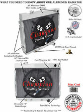 "1964 1965 1966 Ford Galaxie w/ Small Block V8 3 Row Rockin Radiator w/ 16"" Fan"