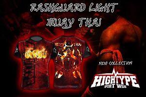 HighType Muay Thai Rash Guard Thai Boxing Thailand Fightwear Compression