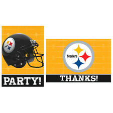 NFL PITTSBURGH STEELERS INVITATIONS AND THANK YOU NOTES (8ct ea.) ~ Supplies