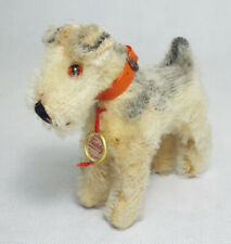 Vtg Herman Original TEDDY Airedale Terrier Dog Stuffed Animal Red Buckle Collar