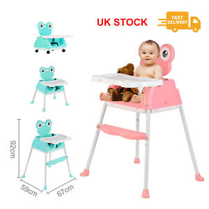 5-in-1 Baby Highchair Infant High Feeding Seat Toddler Table Chair Portable UK