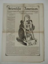 1856 Scientific American May 3 Machine make hollow bricks Bank & Safe Locks