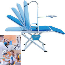 Greeloy Portable Dental Chair Folding Chair Unit + LED Cold Light  CE FDA