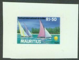 Mauritius 1987 Sailboats glossy plastic MASTER PROOF