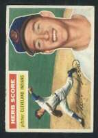 1956 Topps #140 Herb Score VGEX RC Rookie Indians 82780