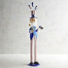 """Pier 1 4th of July Uncle Sam 26"""" Bobble Head 2017 Figurine No Longer Available"""