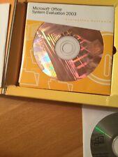 AuthenticMicrosoft Office System Evaluation 2003 Enterprise edition,Unused 21cds