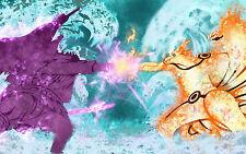 Poster A3 Naruto Shippuden Uzumaki Naruto Uchiha Sasuke 02